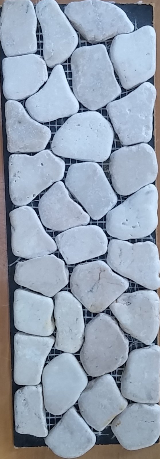 RIVERSTONE FLAT WHITE PEBBLE 10X100-EACH