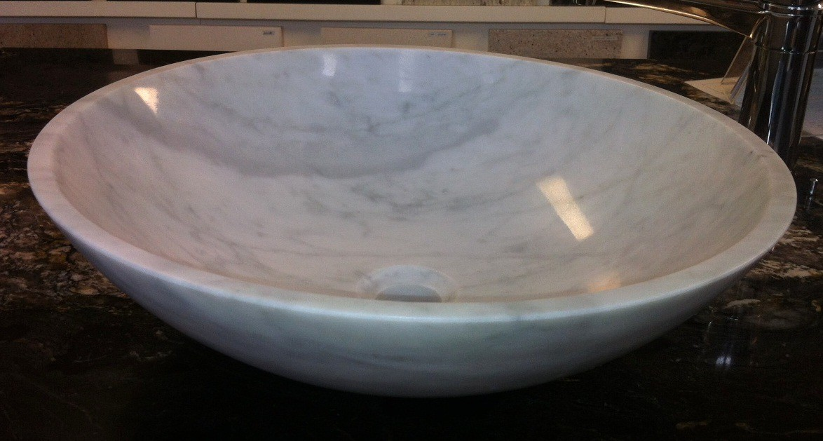 BASIN CARRARA ROUND 43CM - EACH