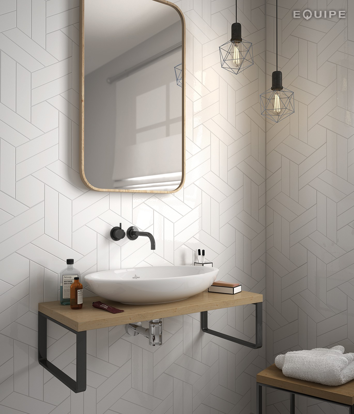Chevron Blanco Gloss 5 2x18 6 L Sqm Wall Tiles Tiles Our Products