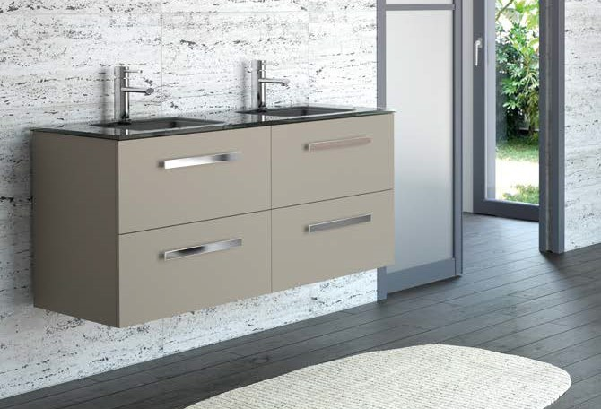 FUSSION DOUBLE 120CM 4 DRAWER MINK