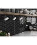 CHEVRON NERO MATT 5.2X18.6 R - SQM