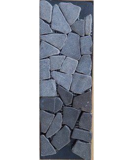RIVERSTONE FLAT GREY PEBBLE 10X100 -EACH