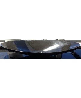 BASIN MONGOLIAN BLACK OVAL 36X80 - EACH