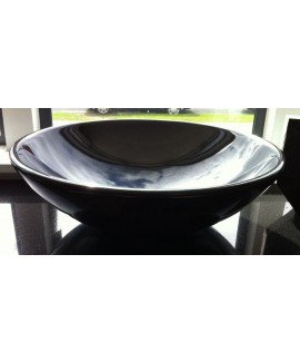 BASIN XANSHI BLACK ROUND 43CM - EACH