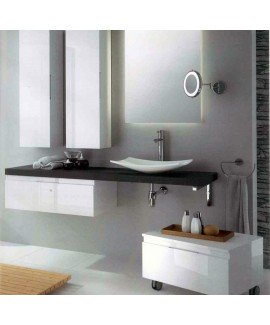 VERSUS 120CM ANTRACITE GLOSS VANITY -SET