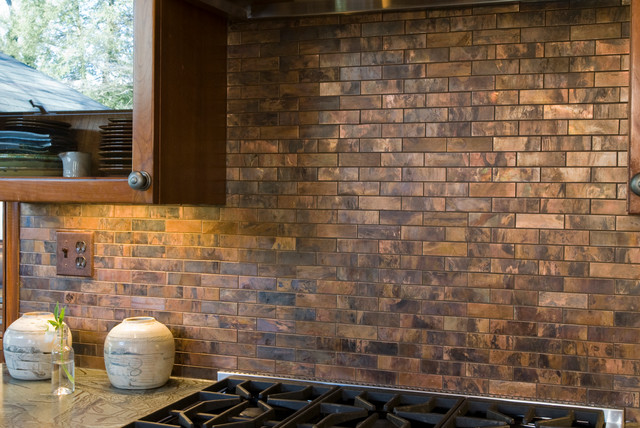 Metal Brass Brick Mosaic