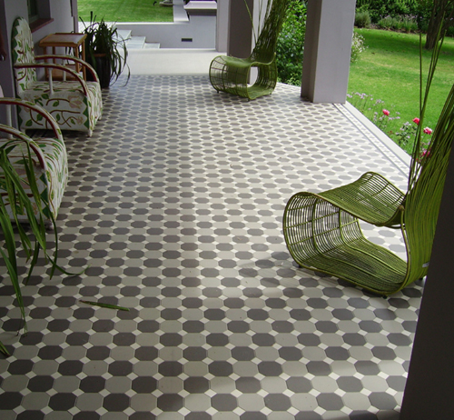 Winckelmans Octagon & Dot Pale Grey Charcoal & White